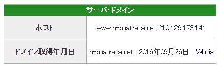 競艇予想サイト必勝モーターボート悪質悪徳稼げない閉鎖IPアドレスドメイン取得日-